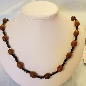 "4/$30 NWT Handmade Acorn & Seed Necklace 28"""